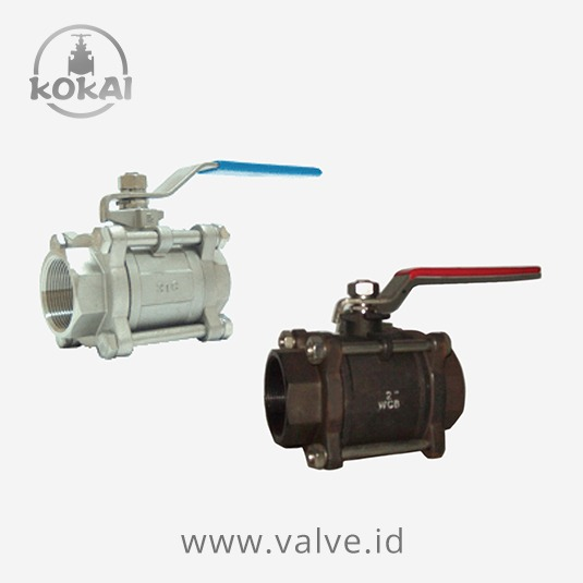 Ball valve wog stainless steel wcb pc body full
