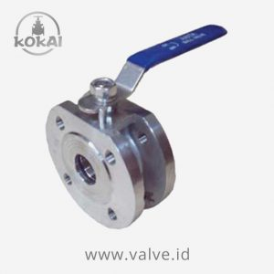 Ball Valve PN 16, Stainless Steel, 1-PC Body, Wafer Type, Flanged End PN 16