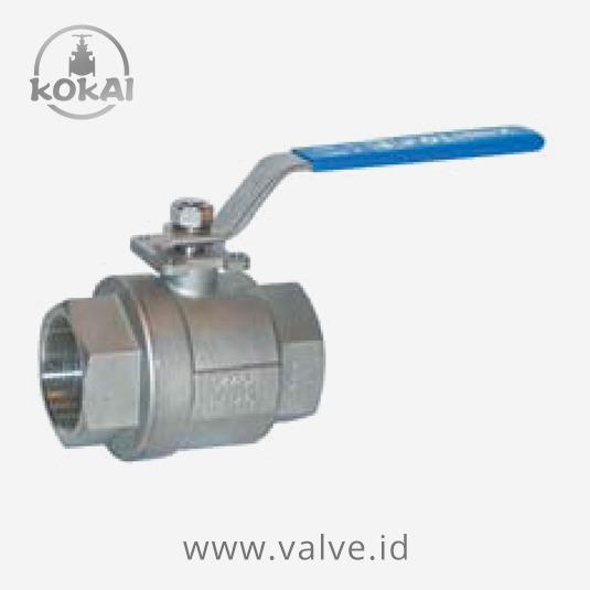 2-pc threaded type ball valve 100 wog