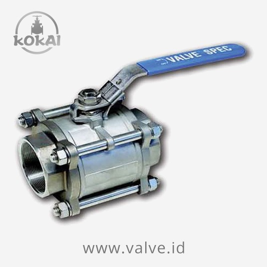 Stainless Steel Ball Valve, 3 Piece F-Bore, PN 63